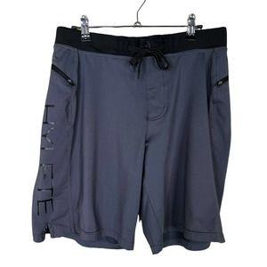 "Hylete Above Knee Shorts Medium Mens Crossfit Cross Training 9.5"" Dark Gray"